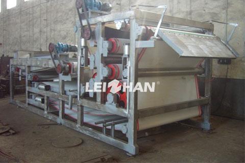 paper pulp dewatering machine